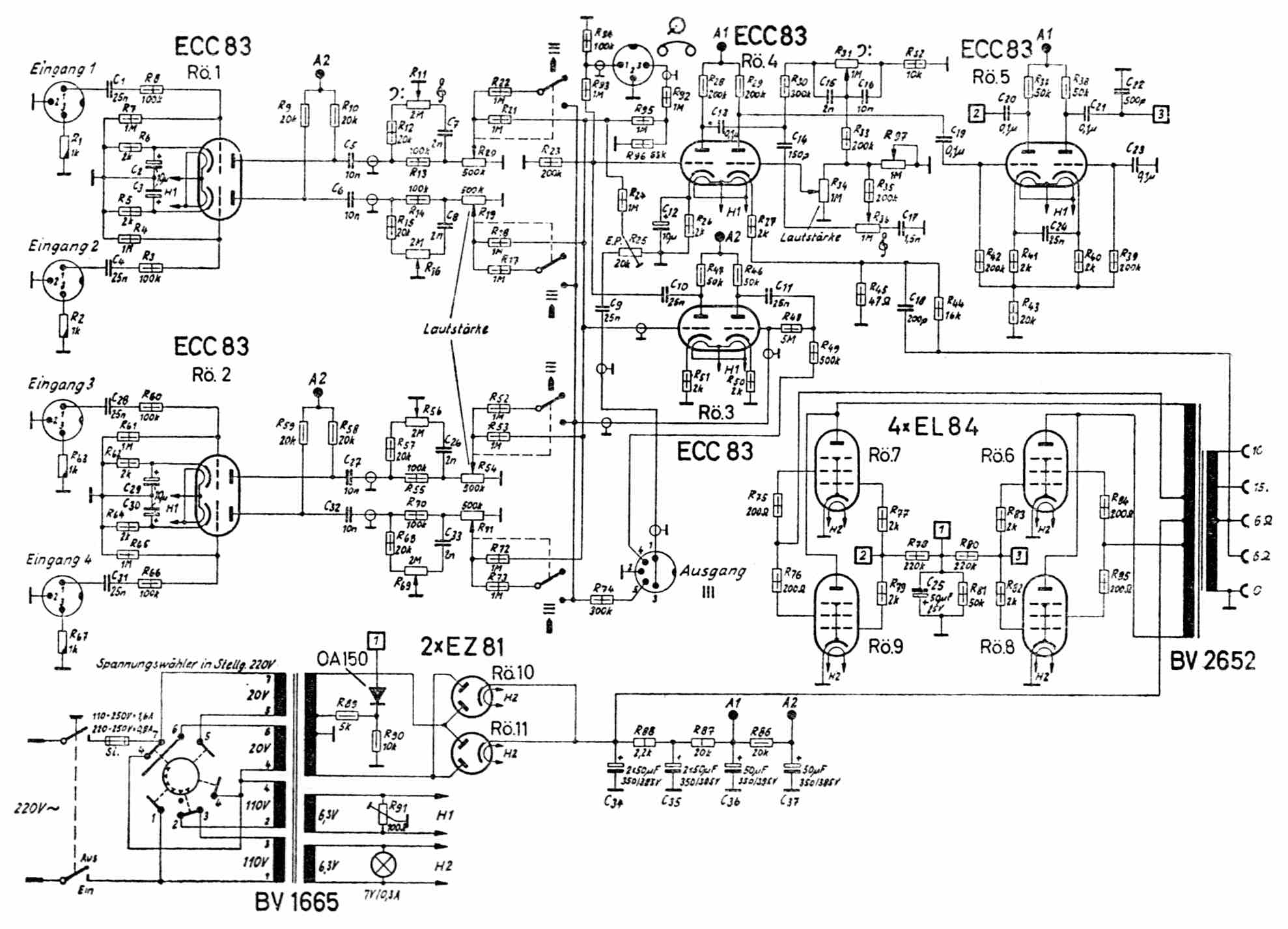 803 Single Power Amplifier Circuits Schematics Block Wiring Circuit Diagram And Supply Schematic Dynacord Amp Panasonic Elsavadorla High
